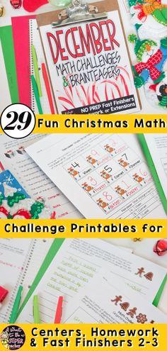 Christmas Math Activities   Christmas Math Worksheets   December Math