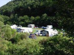 Camping in der Enz tussen het groen van de Eifel