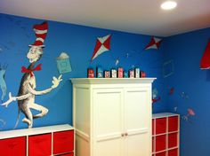 Dr Seuss Playroom Complete With A Mural By Mikki Moore And Letter Blocks From Meandthesethree