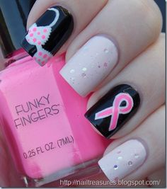 BREAST CANCER AWARENESS #nail #nails #nailart