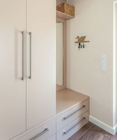 Sylish bedroom solutions with carcass fitted robe and drawers Sliding Wardrobe Designs, Wardrobe Design Bedroom, Room Design Bedroom, Bedroom Furniture Design, Closet Bedroom, Wall Cupboards, Bedroom Cupboard Designs, Small Closets, Balcony Design