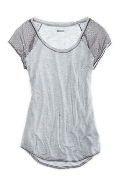 Aerie Shine Dot Sleeve T-Shirt