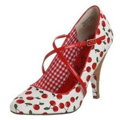 Cherry Shoes, I've always had a soft spot for cherry attire - had cherry sundresses as a child.Bessette Waldman Crawford via Linda A. Stilettos, High Heels, Pumps, Pretty Shoes, Cute Shoes, Me Too Shoes, Chic Chic, Red Shoes, Shoes Heels