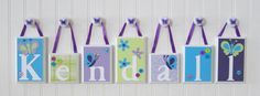 Name Blocks  ROUTED EDGE  Nursery Name by OhMyButtonsAndBows, $14.00