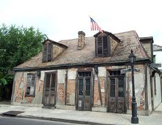 Lafitte's Blacksmith Shop, one of the oldest buildings still standing in New Orleans - It houses a bar said to be the oldest continually occupied bar in the United States - found on the corner of Bourbon & St. Philip -