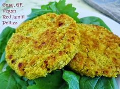 Poor and Gluten Free (with Oral Allergy Syndrome): Easy Vegan, Gluten Free Red Lentil Burgers (Meatless Monday)