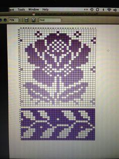 Billedresultat for solveig hisdal knitting patterns Tapestry Crochet Patterns, Fair Isle Knitting Patterns, Knitting Charts, Knitting Stitches, Knitting Designs, Motif Fair Isle, Fair Isle Chart, Fair Isle Pattern, Crochet Cross