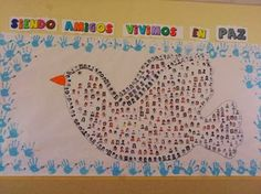 RECURSOS DE EDUCACION INFANTIL: DÍA DE LA PAZ Classroom Decor, Peace, Day, School, Drawings, Spanish, Peace Dove, Early Education, Alphabet