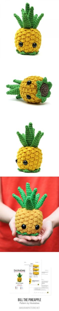 Bill The Pineapple Amigurumi Pattern