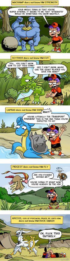 The pokemon world can be so hard ... pokemon, machamp, scyther, lapras, pidgeot, tauros, arceus