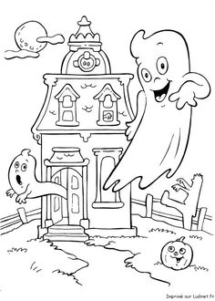 Coloring Sheets for Kids Halloween Beautiful Halloween Coloring Pages House Colouring Pages, Fall Coloring Pages, Adult Coloring Pages, Coloring Pages For Kids, Coloring Books, Free Coloring, Kids Coloring, Halloween Coloring Pictures, Free Halloween Coloring Pages