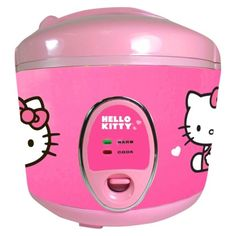 Hello Kitty Rice Cooker. Let's just see how handy she is in the kitchen before we invest in this beauty.