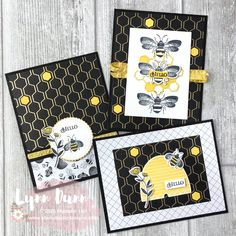 2 Card Designing Tips - Stampin Up Honey Bee Today I have two card designing tips to share with you featuring the Stampin Up Honey Bee. Learn about the reverse card design and adding pops of color. Stampin Up, Karten Diy, Bee Cards, Stamping Up Cards, Marianne Design, Bee Happy, Animal Cards, Card Sketches, Paper Cards