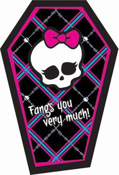 Monster High Thank You Cards | 8ct