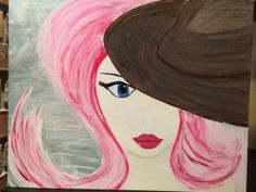 Pink Lady.  Original painting with acrylic and by JodiLynPaintings, $175.00