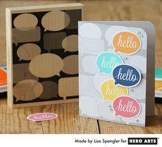 Hello Hello Hello card - by Lisa Spangler for Hero Arts