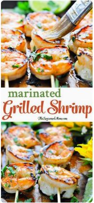 Marinated Grilled Shrimp courses dinner cuisine american prep 10 minscook 5 mins inactive 30 mins total 45 mins author the seasoned mom yiel...