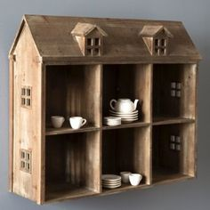 Wooden Doll House Display Shelf 1 - cute idea for displaying my child's tea set!!