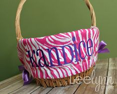 Pink Zebra Personalized / Monogrammed Easter by LeelynnCrafts, $22.00