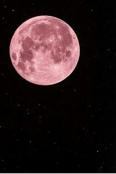 moon, pink, and night afbeelding