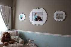 Project Nursery - Aaron Brothers White Picture Frames