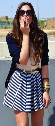 Cardigans + skirts = best combo ever. Also, cardigans + jeans...shorts...etc.