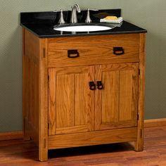 30 American Craftsman Vanity For Semi Recessed Sink Rustic Oak Pinterest And Vanities