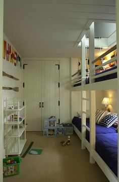 cool attic access from top bunk