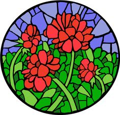 stained+glass+art | Stained-Glass Flowers