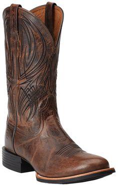 Ariat® Quantum Pro Men's Weathered Chestnut Round Toe Western Boots