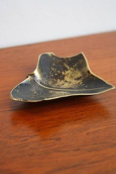Carl Aubock Leaf Ashtray   From a unique collection of antique and modern ashtrays at https://www.1stdibs.com/furniture/dining-entertaining/ashtrays/