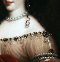 Henrietta, Duchess of Orléans, 1665-70, detail~ Pierre Mignard