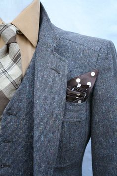 Mens Vintage 3 Piece Tweed Suit by ViVifyVintage