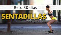 Las sentadillas o Squats son un ejercicio muy completo para trabajar piernas y glúteos. Aquí tienes un reto sentadillas de 30 días