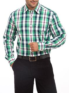 You can walk with pride to your work place and social gatherings by wearing this Color Plus�s formal shirt. Coming from the house of Color Plus you can be assured of a quality and durable product. It is made up of high quality and skin friendly material which provides you higher level of comfort. To further increase the comfort level it has a tailor fit feature in it. It features a full sleeve regular collar and a check design. This medium green colored shirt looks absolutely professional…