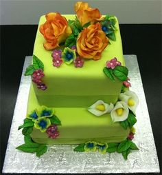 Garden Themed Cake- Love it. Mini Cakes, Cupcake Cakes, Cupcakes, City Cake, Cake Decorating, Decorating Ideas, Masquerade Theme, Fancy Desserts, Awesome Cakes