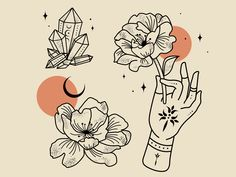 Fortune Snake Hands by Daphna Sebbane on Dribbble Silver Spring, Hand Designs, Show And Tell, Tattoo Designs, Tattoo Ideas, Peonies, Old School, Snake, Photo And Video