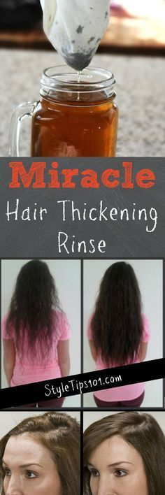 How to Get Thicker Hair Naturally - a DIY Hair Thickening Mask - Kelsey Arsenault - Diy Hair Mask Thinning Hair Remedies, Hair Remedies For Growth, Hair Loss Remedies, Hair Growth, Diy Hair Thickening Mask, Hair Thickening Treatment, Hair Thickening Remedies, Get Thicker Hair, Diy Hair Mask