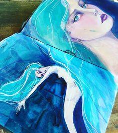 Always on my mind #mermaids #JaneDinItaly #janedavenportmixedmedia #artistsofinstagram #mixedmedia #artjournal #janedavenport