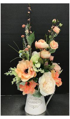 Spring Flower Arrangements, Artificial Floral Arrangements, Beautiful Flower Arrangements, Floral Centerpieces, Beautiful Flowers, Beautiful Fruits, Table Centerpieces, Wedding Centerpieces, Faux Flowers