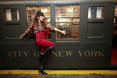 Vintage Peacock Party on the Vintage NYC Subway Trains!