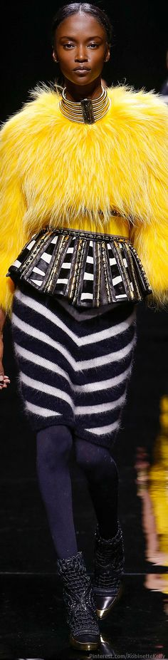 it's like big bird meets high fashion and  I love it