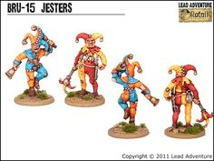 BRU-15 Jesters Lead Adventure, The Fool, Bowser, Miniatures, Projects, Sink, Painting, Fictional Characters, Money