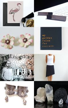 238 - Black Pink Gifts by Ilona on Etsy--Pinned with TreasuryPin.com