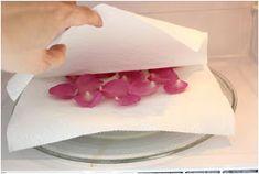 Mikrodalga Fırında Gül Yapraklarını Kurutma