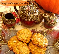 pumpkin oatmeal cookies--I doubled the recipe and it made probably 50ish cookies. Also added cinnamon chips. Can barely tell there is oatmeal in them. Kevin liked them!