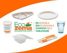 Biodegradable  & Compostable Tableware by Ecozema® - Piatti, bicchieri, contenitori d'asporto, vassoi biodegradabili e compostabili Ecozema®