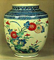Early edo-era ceramist Sakaida Kakiemon 酒井田柿右衛門.