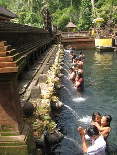 Purifying pool at Tirta Empul temple, Bali. #ThisisIndonesia