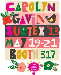 Come see us at Surtex this Sunday- Tuesday NYC!